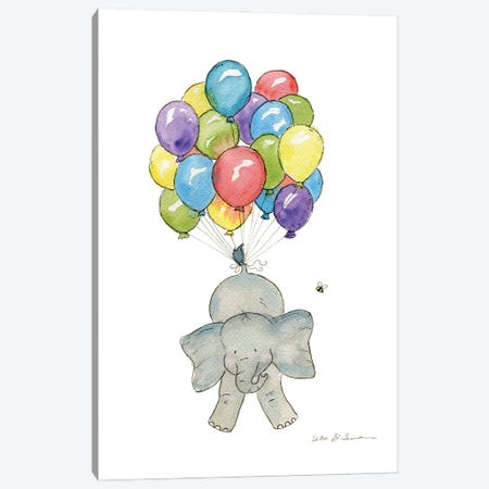 Ellie Up And Away Canvas Print #JSY39} by Jasper And Ruby Art Print