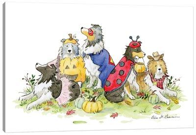 Trick or Treat!: Halloween Shelties Canvas Art Print