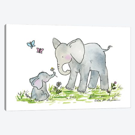 Ellie And Mama Canvas Print #JSY47} by Jasper And Ruby Canvas Print