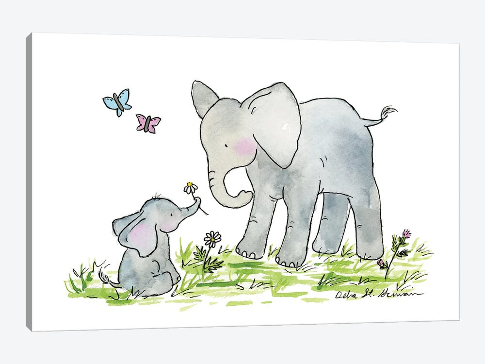 Ellie And Mama by Jasper And Ruby 1-piece Art Print