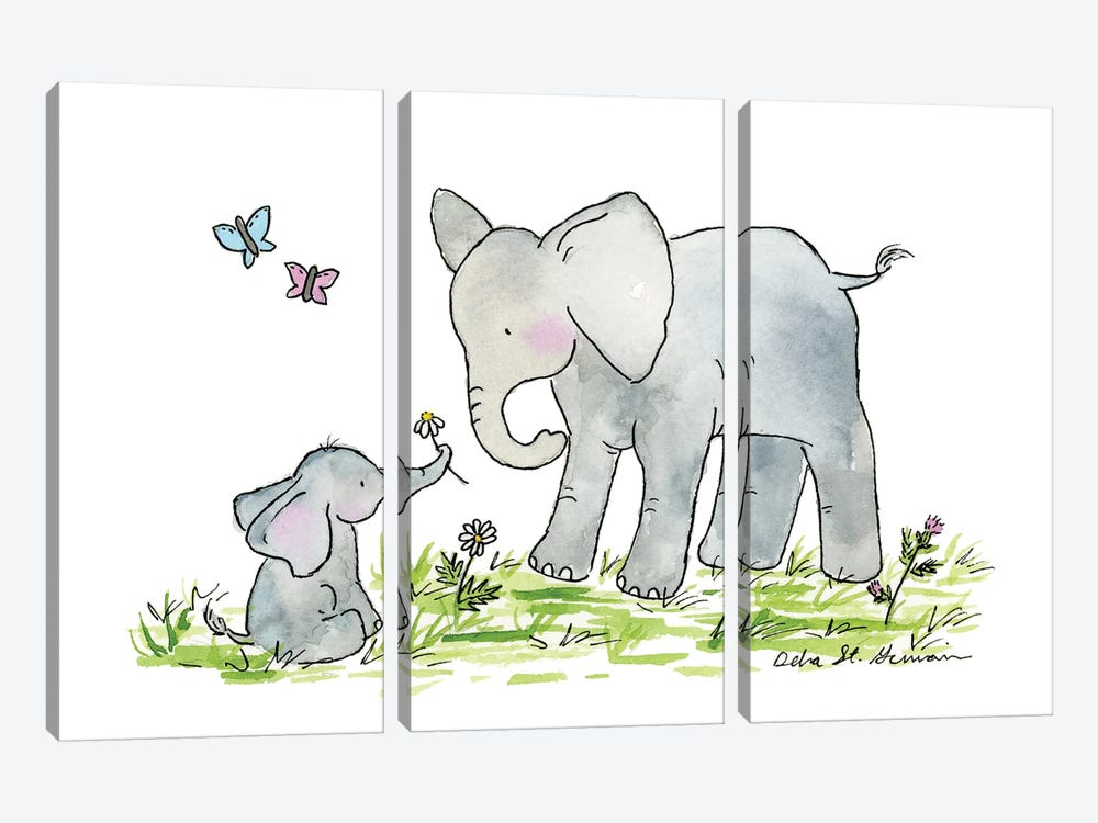 Ellie And Mama by Jasper And Ruby 3-piece Canvas Print