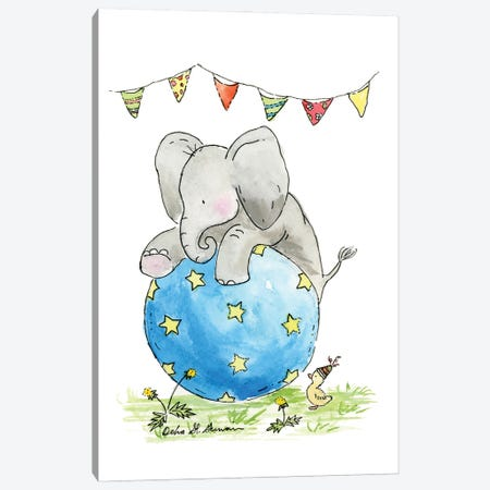 Ellie At The Circus Canvas Print #JSY48} by Jasper And Ruby Canvas Artwork