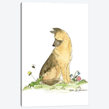 German Shepherd Canvas Print #JSY49} by Jasper And Ruby Canvas Artwork
