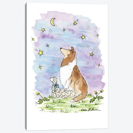The Wishing Star: Sable Collie Canvas Print #JSY5} by Jasper And Ruby Canvas Print
