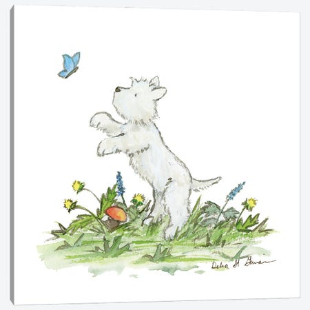 West Highland White Terrier Canvas Print #JSY64} by Jasper And Ruby Canvas Print