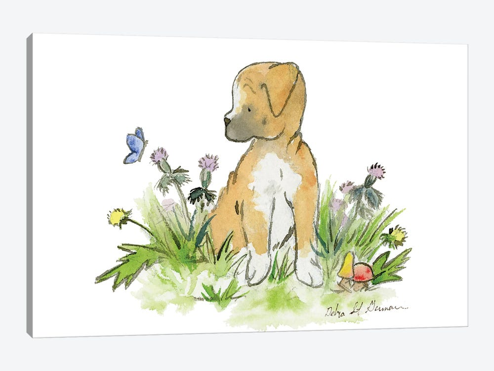Boxer Puppy by Jasper And Ruby 1-piece Canvas Art