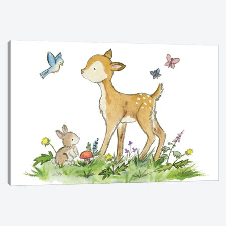Woodland Friends Canvas Print #JSY69} by Jasper And Ruby Canvas Art