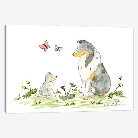 Father And Son Shelties Canvas Print #JSY73} by Jasper And Ruby Art Print