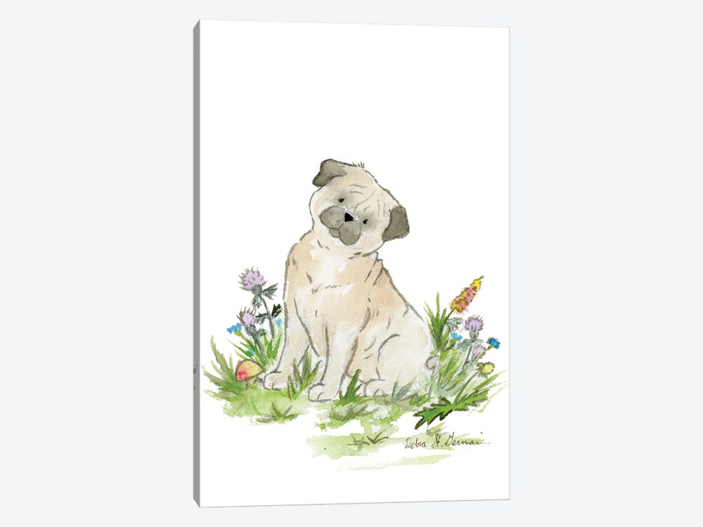 Pug by Jasper And Ruby 1-piece Canvas Wall Art