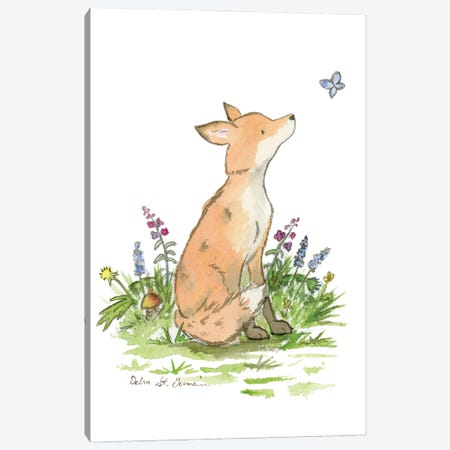 Clever Little Fox Canvas Print #JSY76} by Jasper And Ruby Canvas Wall Art