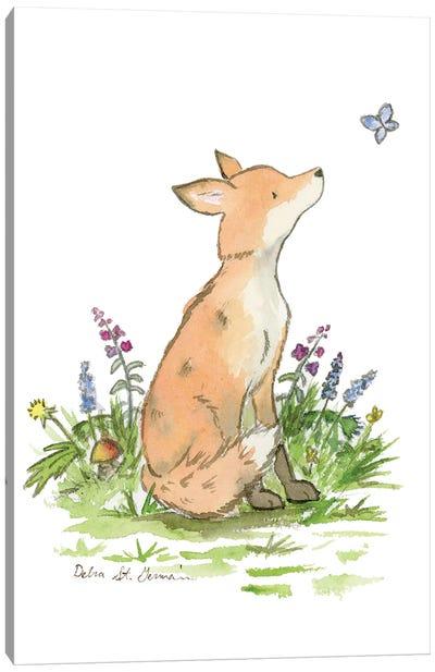 Clever Little Fox Canvas Art Print