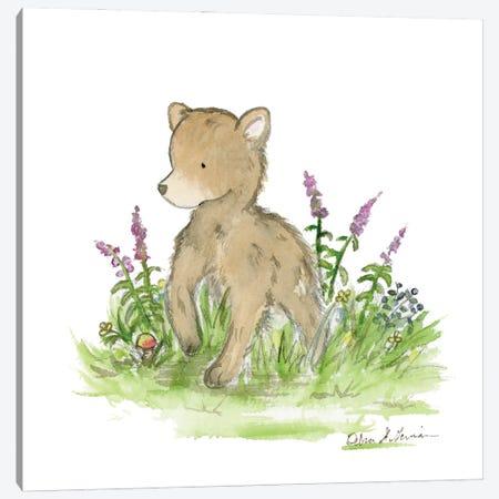 Brave Little Bear Canvas Print #JSY77} by Jasper And Ruby Canvas Artwork