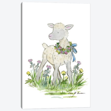 Little Lamb Canvas Print #JSY78} by Jasper And Ruby Canvas Art Print