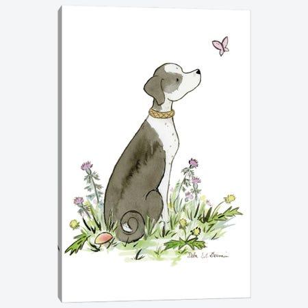 Mixed Breed Dog Canvas Print #JSY84} by Jasper And Ruby Canvas Art Print