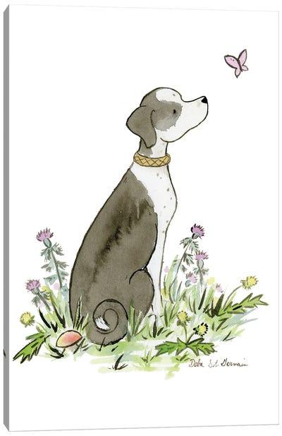 Mixed Breed Dog Canvas Art Print