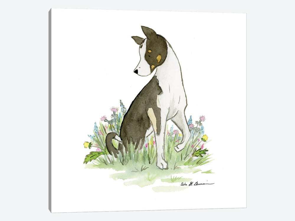Bachrach The Husky-Collie Mix by Jasper And Ruby 1-piece Canvas Art
