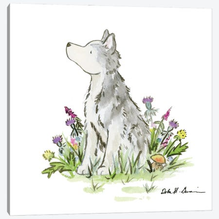 Hatcher The Husky Canvas Print #JSY93} by Jasper And Ruby Art Print