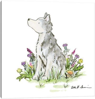 Hatcher The Husky Canvas Art Print