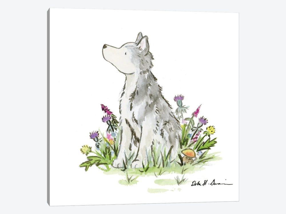 Hatcher The Husky 1-piece Canvas Artwork