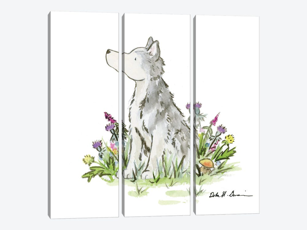 Hatcher The Husky by Jasper And Ruby 3-piece Canvas Artwork