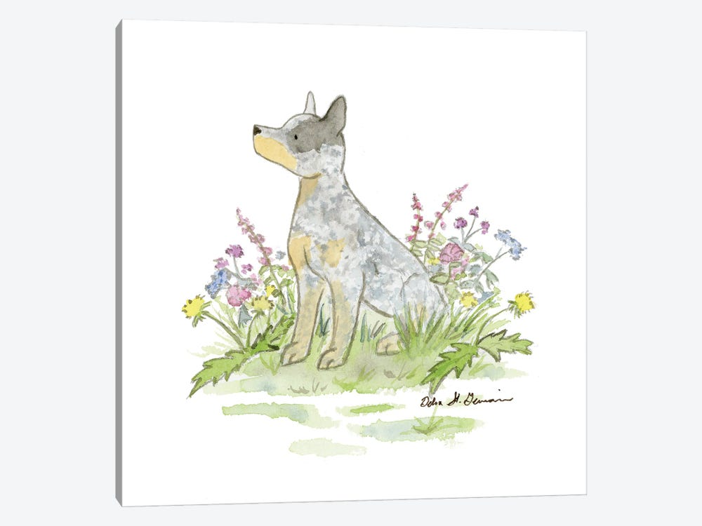 Jack The Australian Cattle Dog by Jasper And Ruby 1-piece Canvas Wall Art