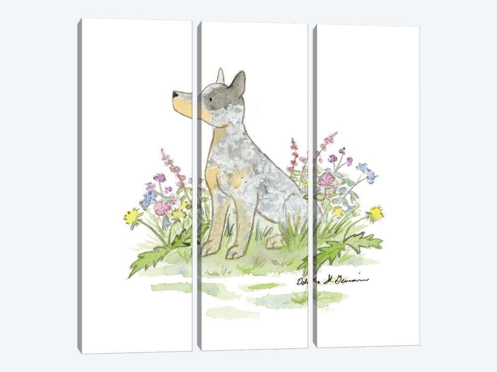 Jack The Australian Cattle Dog by Jasper And Ruby 3-piece Canvas Wall Art
