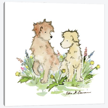 A Couple of Doodles Canvas Print #JSY98} by Jasper And Ruby Canvas Print