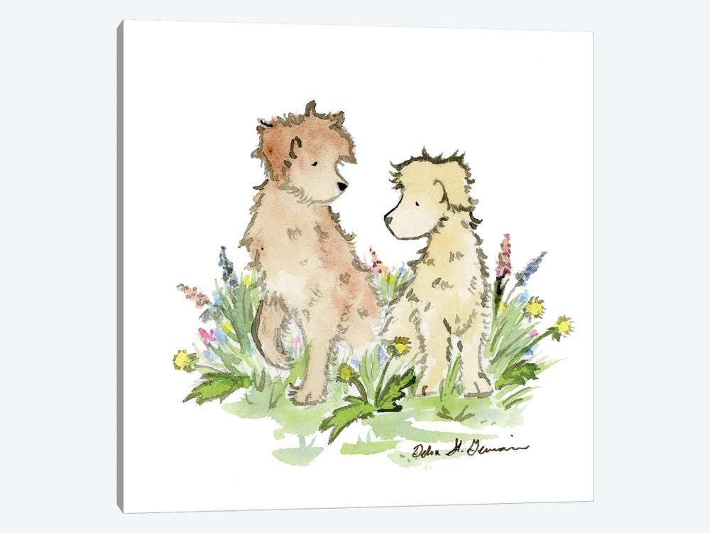 A Couple of Doodles by Jasper And Ruby 1-piece Canvas Art Print
