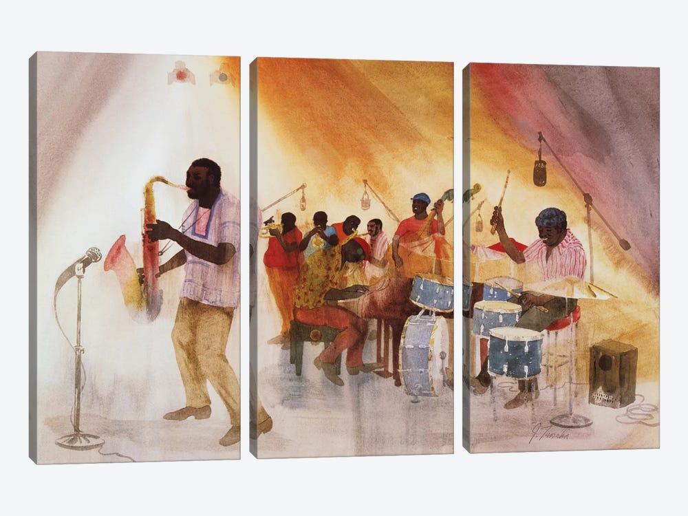 Take The 'A' Train by Jim Tanaka 3-piece Canvas Print