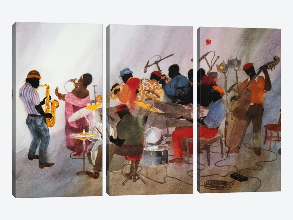 Wild Women Don't Have The Blues by Jim Tanaka 3-piece Canvas Artwork