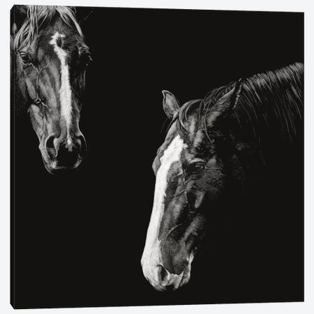 Cowboy Scratchboard III 3-Piece Canvas #JTC103} by Julie T. Chapman Canvas Art