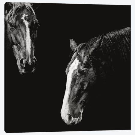 Cowboy Scratchboard III Canvas Print #JTC103} by Julie T. Chapman Canvas Art