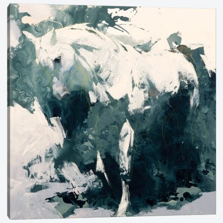 Study in Green Canvas Print #JTC123} by Julie T. Chapman Canvas Artwork