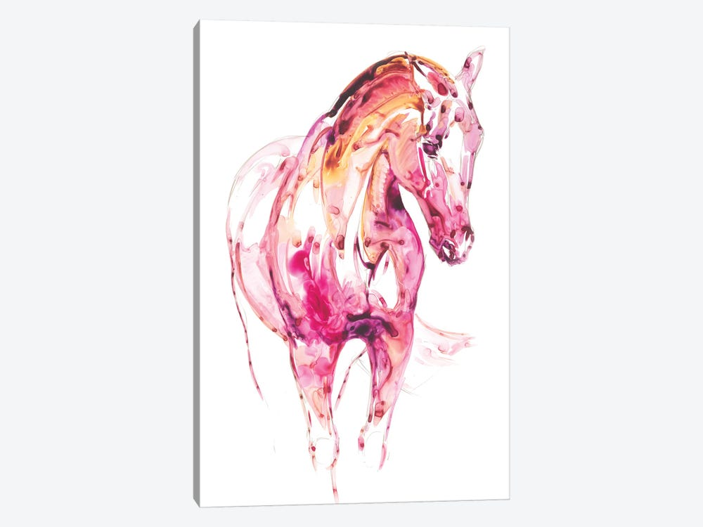 Garnet Horse III by Julie T. Chapman 1-piece Canvas Artwork