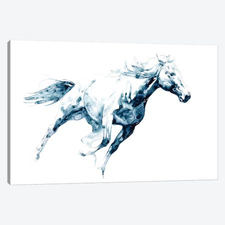 Sapphire Gallop I Canvas Print #JTC36} by Julie T. Chapman Canvas Print