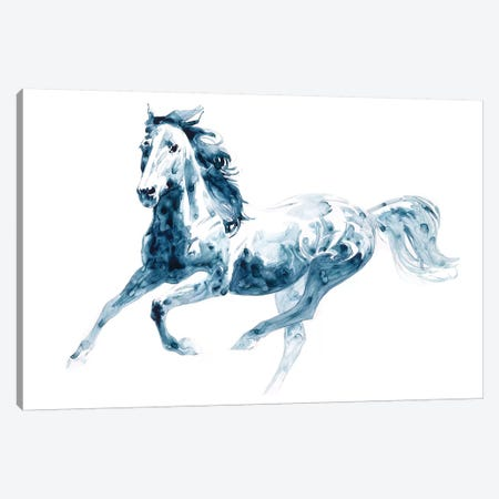 Sapphire Gallop II 3-Piece Canvas #JTC37} by Julie T. Chapman Canvas Print