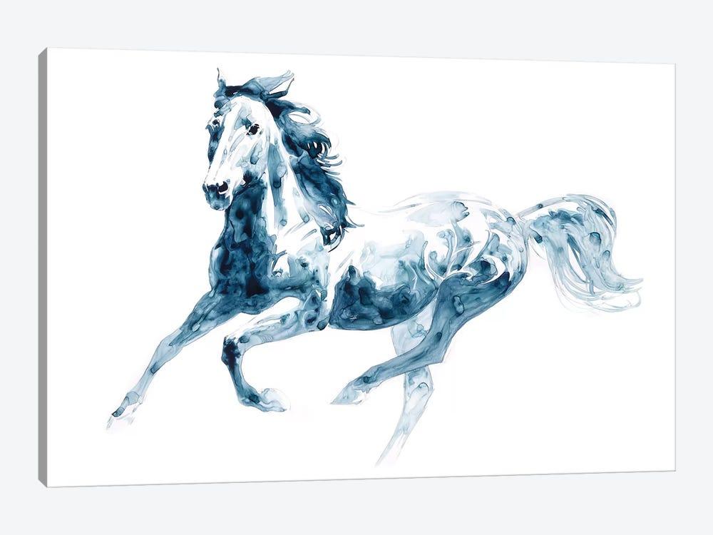 Sapphire Gallop II by Julie T. Chapman 1-piece Canvas Art Print