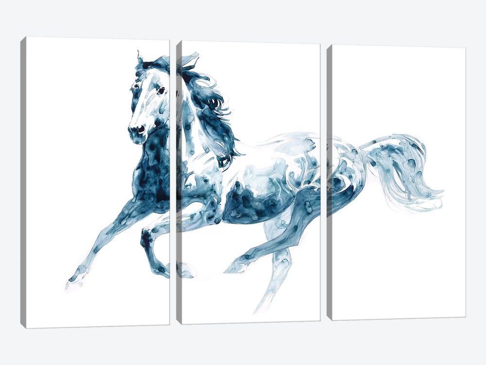 Sapphire Gallop II by Julie T. Chapman 3-piece Art Print