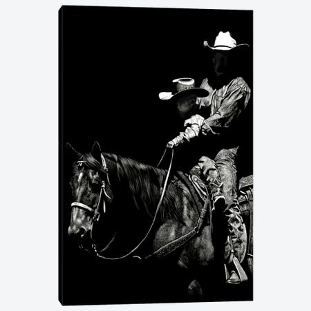 Scratchboard Rodeo II Canvas Print #JTC39} by Julie T. Chapman Canvas Wall Art