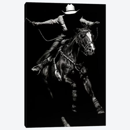 Scratchboard Rodeo III Canvas Print #JTC40} by Julie T. Chapman Art Print