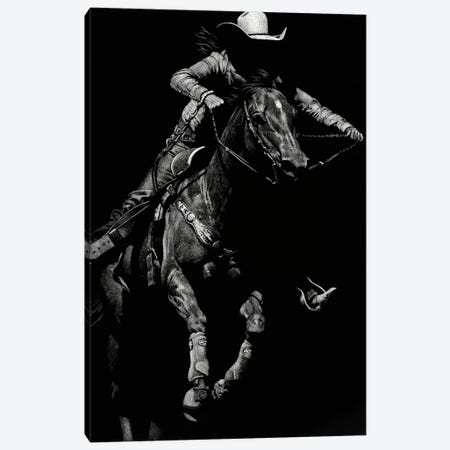 Scratchboard Rodeo IV Canvas Print #JTC41} by Julie T. Chapman Canvas Print
