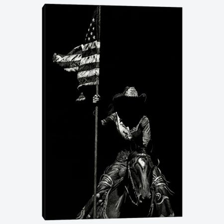 Scratchboard Rodeo VI Canvas Print #JTC43} by Julie T. Chapman Art Print