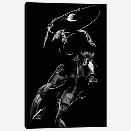 Scratchboard Rodeo VII Canvas Print #JTC44} by Julie T. Chapman Canvas Artwork