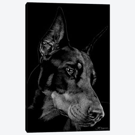 Canine Scratchboard III Canvas Print #JTC51} by Julie T. Chapman Canvas Wall Art