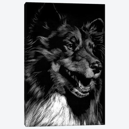 Canine Scratchboard X Canvas Print #JTC58} by Julie T. Chapman Canvas Art
