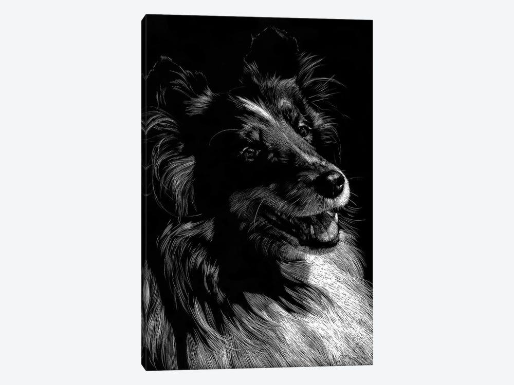 Canine Scratchboard XI by Julie T. Chapman 1-piece Art Print