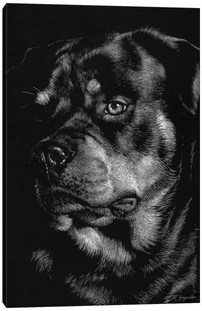 Canine Scratchboard XII Canvas Art Print