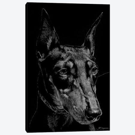 Canine Scratchboard XIII Canvas Print #JTC61} by Julie T. Chapman Canvas Print