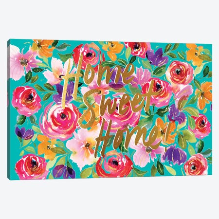 Floral Party B Canvas Print #JTG105} by Joy Ting Canvas Artwork