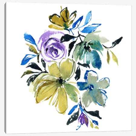 Blue Notes Canvas Print #JTG1} by Joy Ting Canvas Artwork